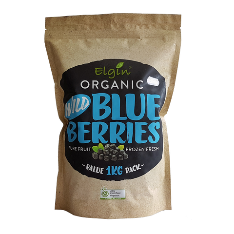 Elgin Organic Frozen Wild Blueberries 1kg - Vegan Pantry Brisbane