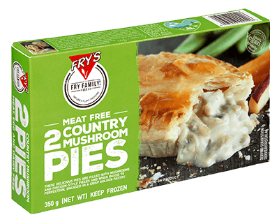 Fry's Country Mushroom Pies 350g - Vegan Pantry Brisbane