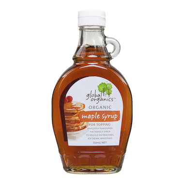 Global Organics Maple Syrup - grade A 250ml - Vegan Pantry Brisbane