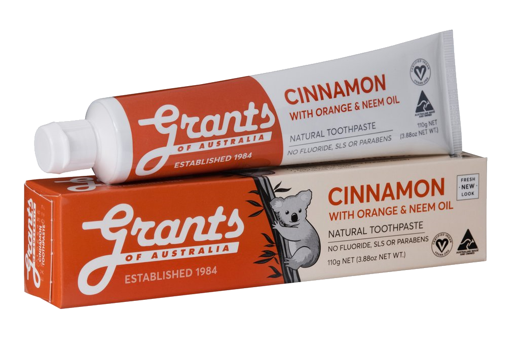 Grants Cinnamon with Orange and Neem Oil Toothpaste  110g - Vegan Pantry Brisbane