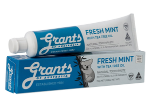 Grants Fresh Mint with Tea Tree Oil Toothpaste 110g - Vegan Pantry Brisbane