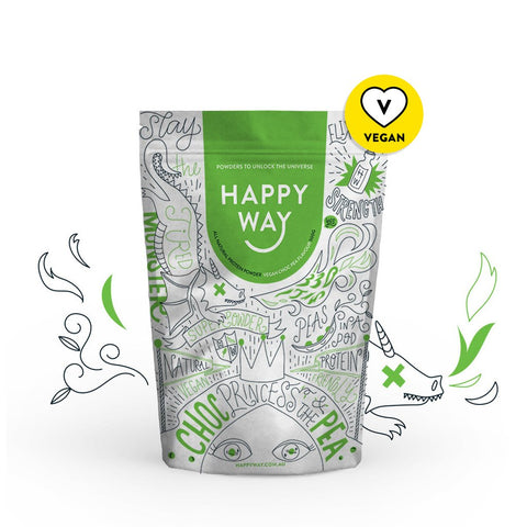 Happy Way Choc Pea Princess Protein Powder 500g - Vegan Pantry Brisbane