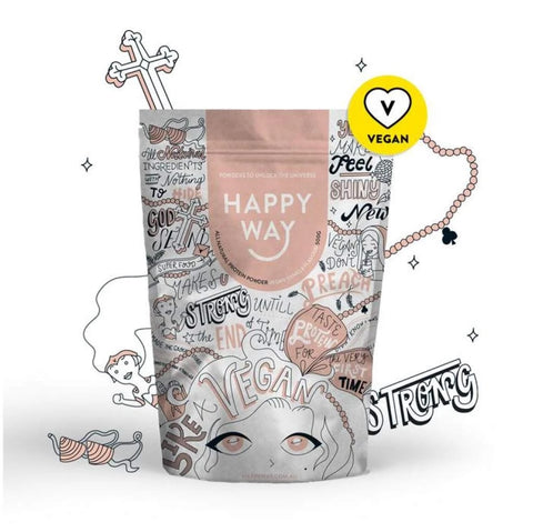 Happy Way Like a Vegan Vanilla Flavour Protein Powder 60g - Vegan Pantry Brisbane
