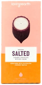 Loving Earth Organic Salted Caramel Chocolate GF 80g - Vegan Pantry Brisbane