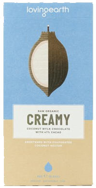 Loving Earth Raw Organic Creamy Coconut Mylk Chocolate GF 80g - Vegan Pantry Brisbane