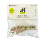 Luvin Life Smudge Stick White Sage Organic Mini 12cm - Vegan Pantry Brisbane