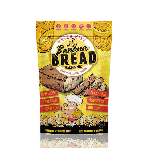 Macro Mike Almond Protein Banana Bread Baking Mix GF 300g - Vegan Pantry Brisbane