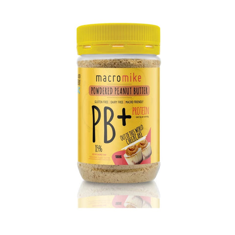 Macro Mike Cheezecake PB+ Powdered Peanut Butter GF 180g - Vegan Pantry Brisbane