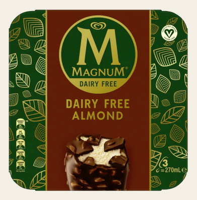 Magnum Dairy Free Almond Multipack x 3 – 270ml - Vegan Pantry Brisbane