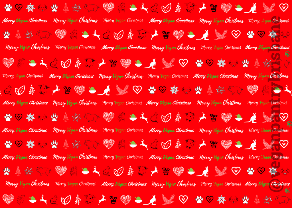 VPB Merry Vegan Christmas - Christmas wrapping paper 115g