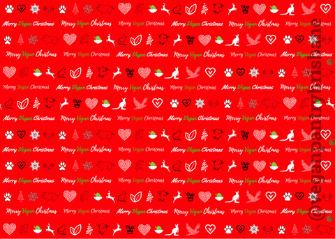 VPB Merry Vegan Christmas - Christmas wrapping paper 115g - Vegan Pantry Brisbane