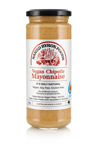 Naked Byron Foods Vegan Chipotle Mayonnaise GF 435g - Vegan Pantry Brisbane