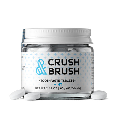 Nelson Naturals Inc. Crush & Brush Toothpaste Tablets Mint GF 60g - Vegan Pantry Brisbane
