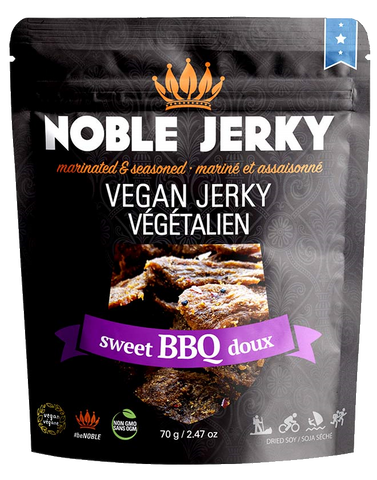 Noble Jerky Vegan Jerky Sweet BBQ 70g - Vegan Pantry Brisbane