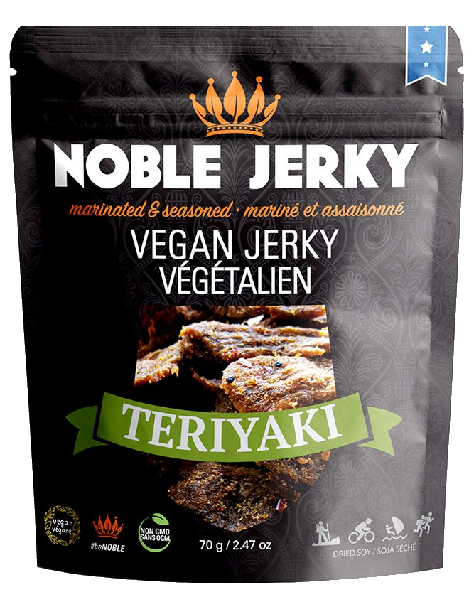 Noble Jerky Vegan Jerky Teriyaki 70g - Vegan Pantry Brisbane