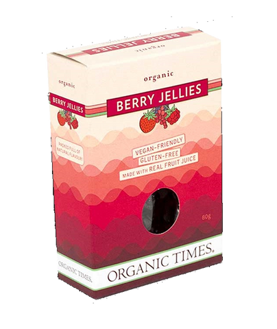 Organic Times Berry Jellies GF 80g - Vegan Pantry Brisbane