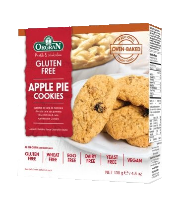 Orgran Apple Pie Cookies GF 130g - Vegan Pantry Brisbane