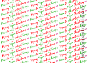 VPB Peace to All Sentient Beings - Christmas wrapping paper 115g