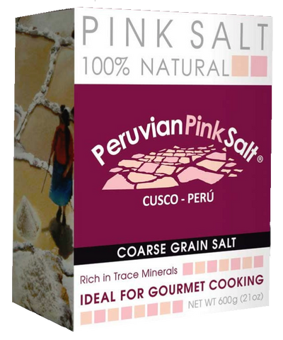 Power Super Foods Peruvian Pink Gourmet Salt Coarse 600g - Vegan Pantry Brisbane