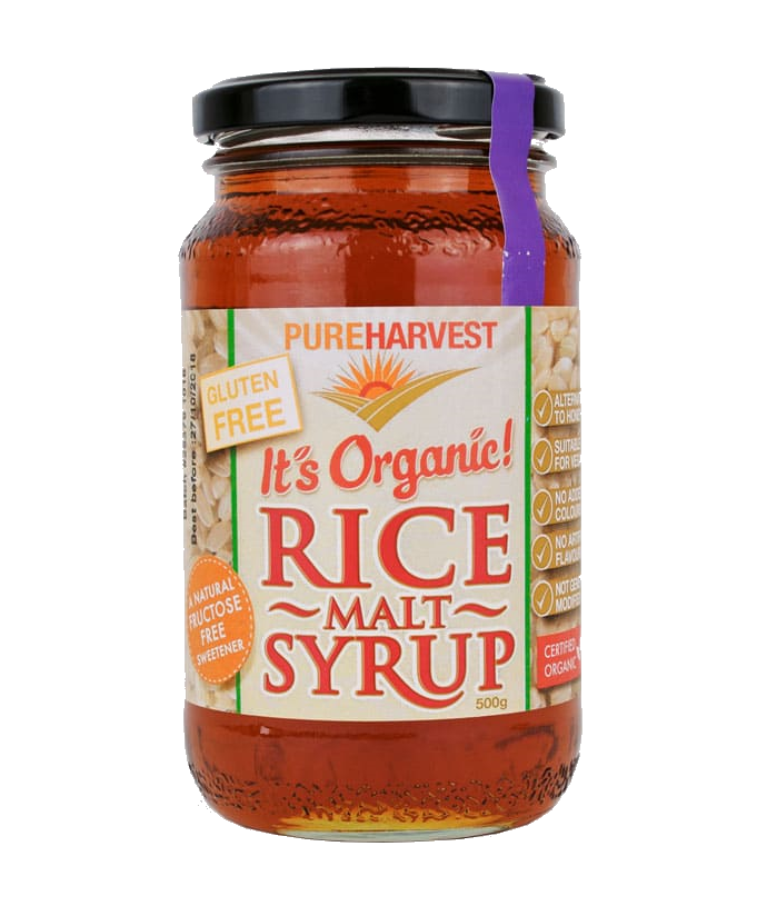 Pure Harvest Organic Rice Malt Syrup GF 500gm - Vegan Pantry Brisbane