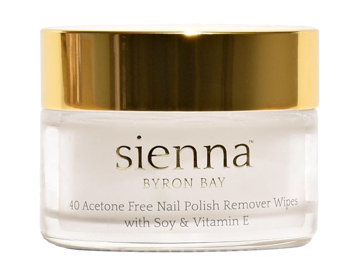 Sienna Byron Bay Nail Polish Remover Wipes – Water based with Soy - Vegan Pantry Brisbane