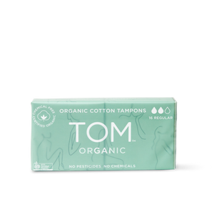 TOM Organic Regular Tampons (2x8 pack) - Vegan Pantry Brisbane