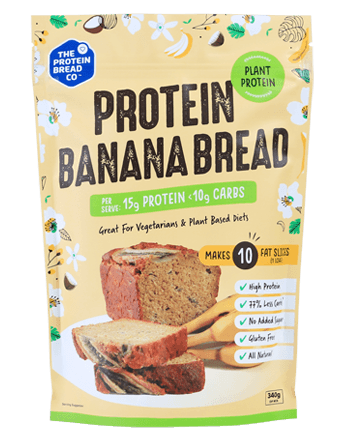 The Protein Bread Co Plant Based Protein Banana Bread 340g - Vegan Pantry Brisbane