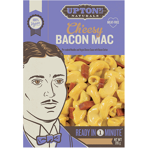 Upton's Naturals Real Meal Kit Ch'eesy Bacon Mac 285g - Vegan Pantry Brisbane