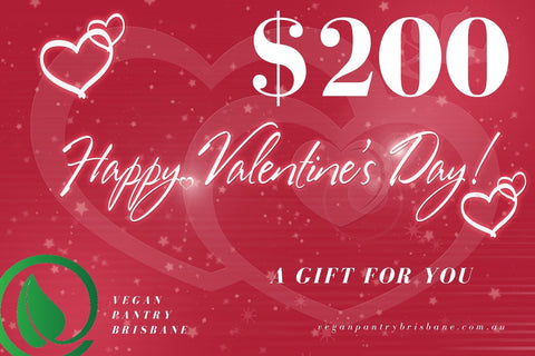 Valentine's Day Gift Card $200 - Vegan Pantry Brisbane