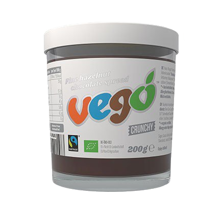 Vego Crunchy Hazelnut Chocolate Spread 200g – Vegan Pantry Brisbane