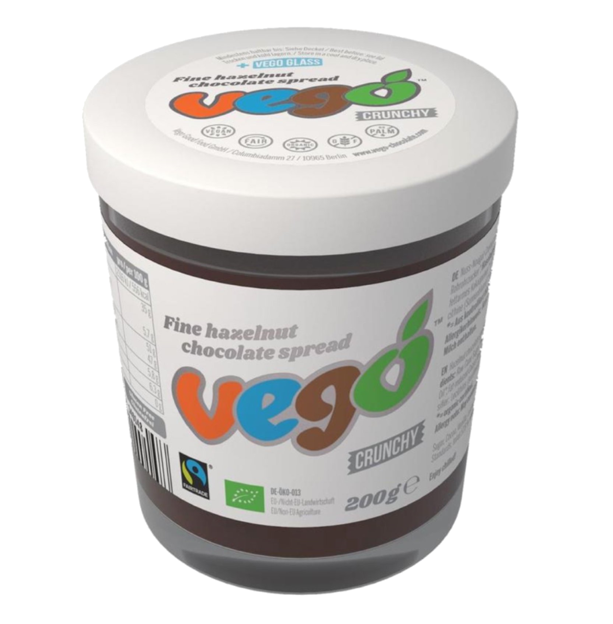 Vego Crunchy Hazelnut Chocolate Spread 200g - Vegan Pantry Brisbane