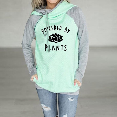 Women's Powered by Plants Hoodie - Vegan Pantry Brisbane
