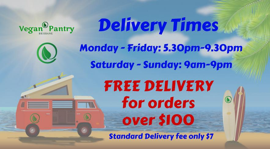 Delivery conditions - Vegan Pantry Brisbane