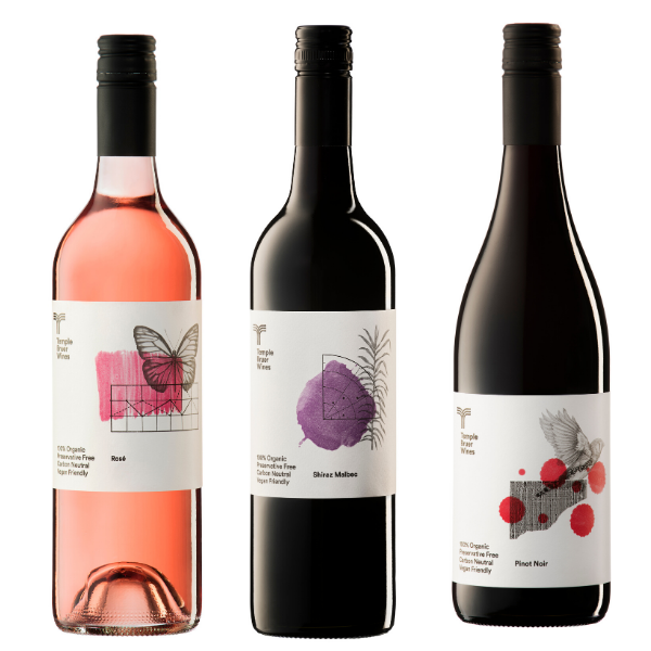 Temple Bruer Organic Wines Lady in Red (and pink) 3 Pack