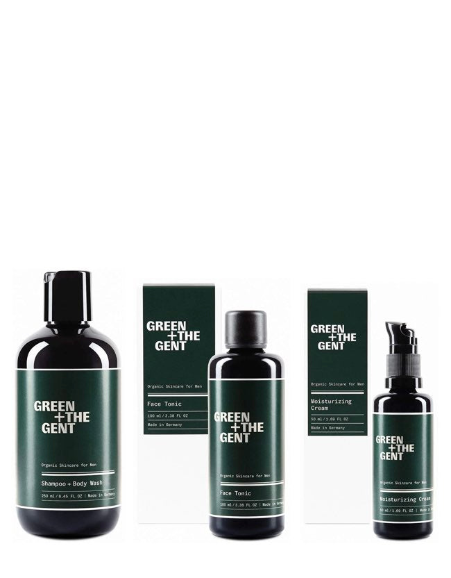 Green + The Gent - Everyday Essentials Kit - Naturkosmetik für Männer