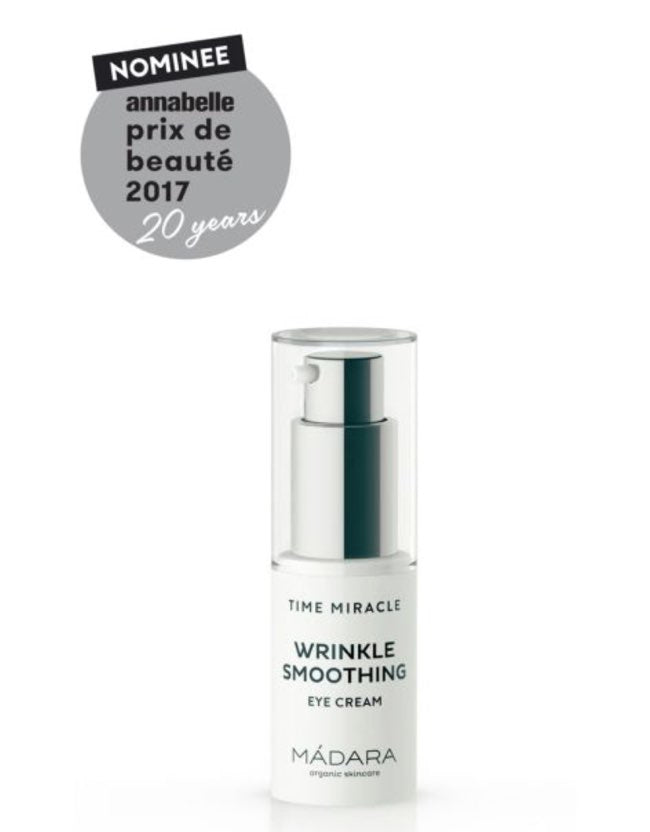 Mádara - TIME MIRACLE Wrinkle Smoothing Augencreme - Naturkosmetik