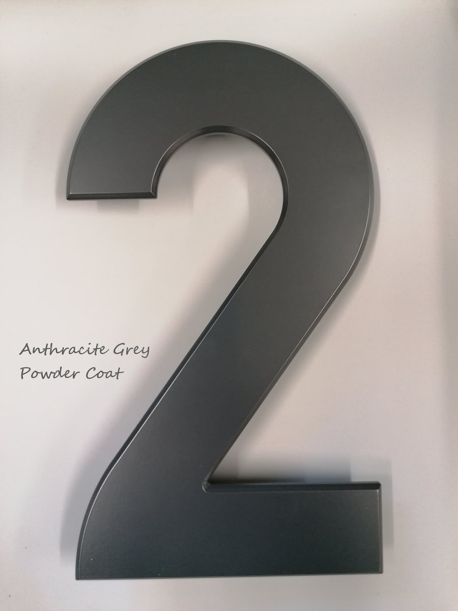 Large House Number 2 (29.5cm) - Stylishly Numbered