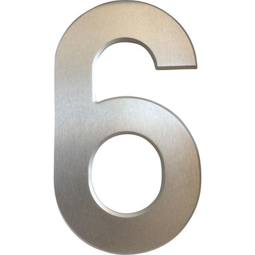 Medium House Number 6 (20cm) - Stylishly Numbered