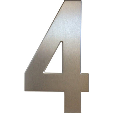 Medium House Number 4 (20cm) - Stylishly Numbered