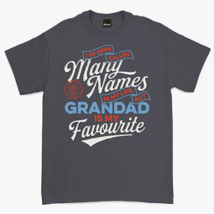 Oldies-Club T-Shirt T-Shirt / Charcoal / M I Have Been Called Many Names