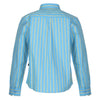 Bells and Whistles Striped Collared Blue Shirt for boys