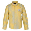 Striped Collared Yellow Shirt for boys