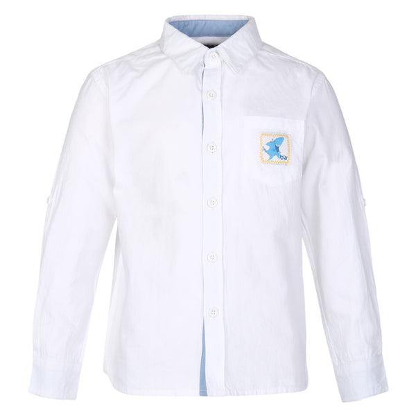 Collared  Dobby White Shirt for boys