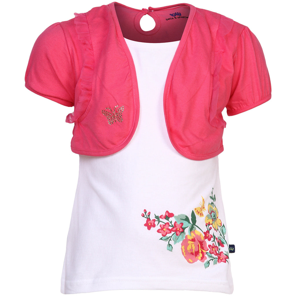 BELLS & WHISTLES GARDEN DELIGHT COLLECTION GIRLS TEE AW14-GD-02