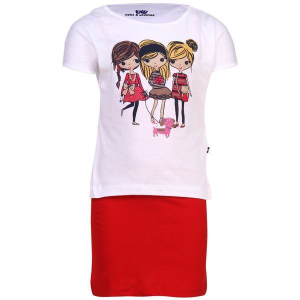 BELLS & WHISTLES SAIL WITH ME COLLECTION GIRLS TEE AW14-SAIL-04