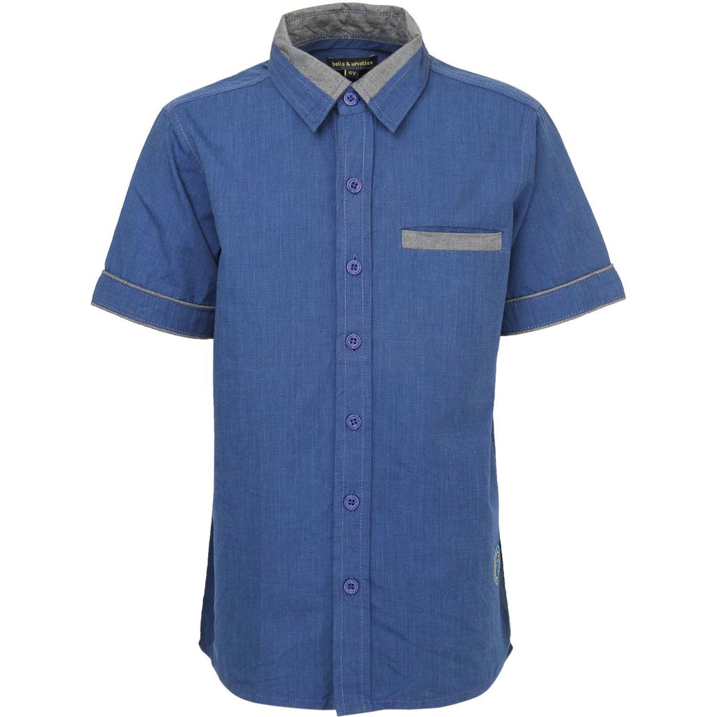Blue filafil Shirt for Boys