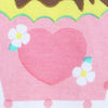 White Stylized Tee with Pink Heart and Cupcake
