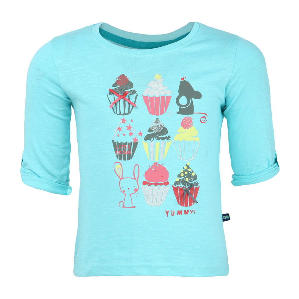 Peach Cupcake Girls Tee