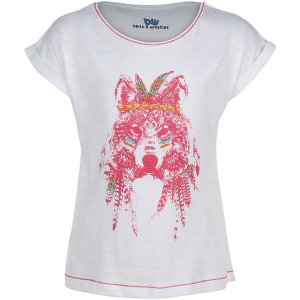 Bells and Whistles Carnival Aztec Wolf Tee
