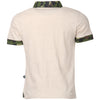 Bells and Whistles Beige  Tee with Camoe Printed Collars